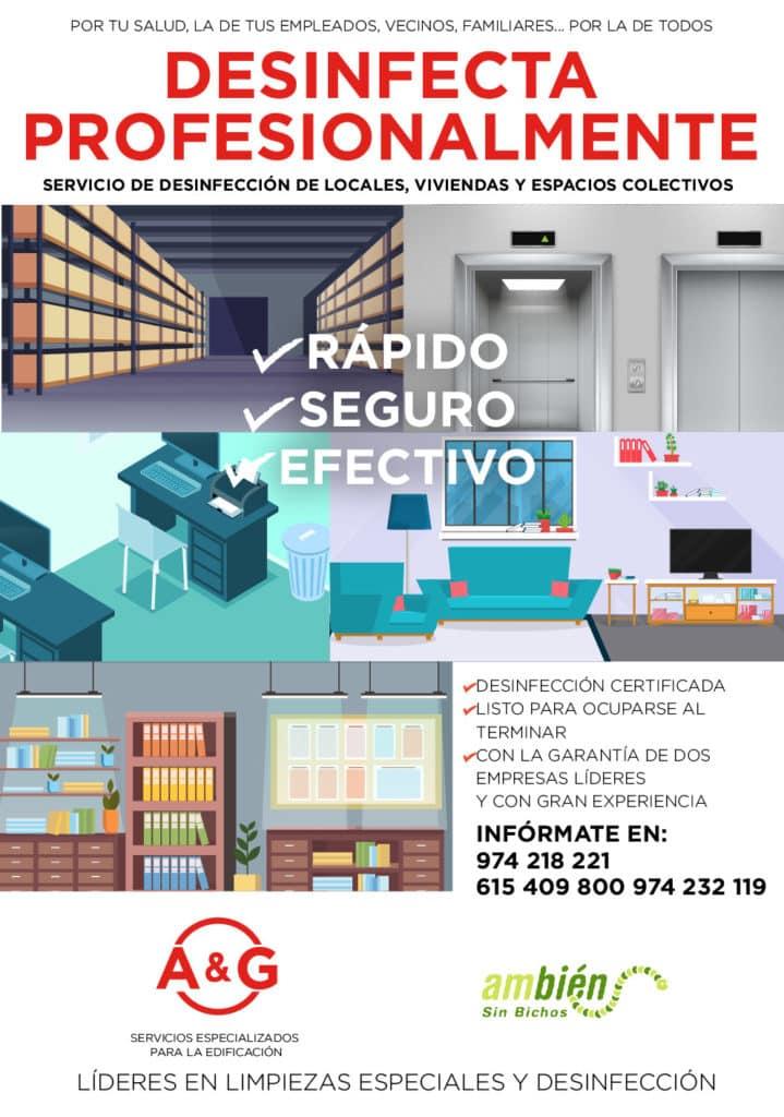 desinfección de viviendas por COVID-19